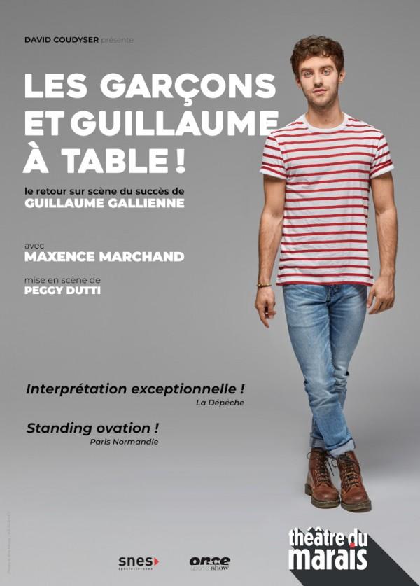 Les Garçons et Guillaume, à table ! au Théâtre du Marais