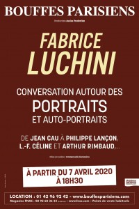 Fabrice Luchini : conversation autour des portraits et auto-portraits au Théâtre des Bouffes Parisiens