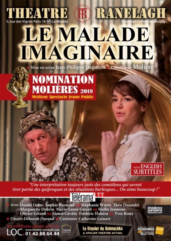 Le Malade imaginaire au Théâtre Ranelagh