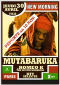 Mutabaruka au New Morning
