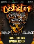 Destruction, Warbringer, Crisix et Domination Inc en concert