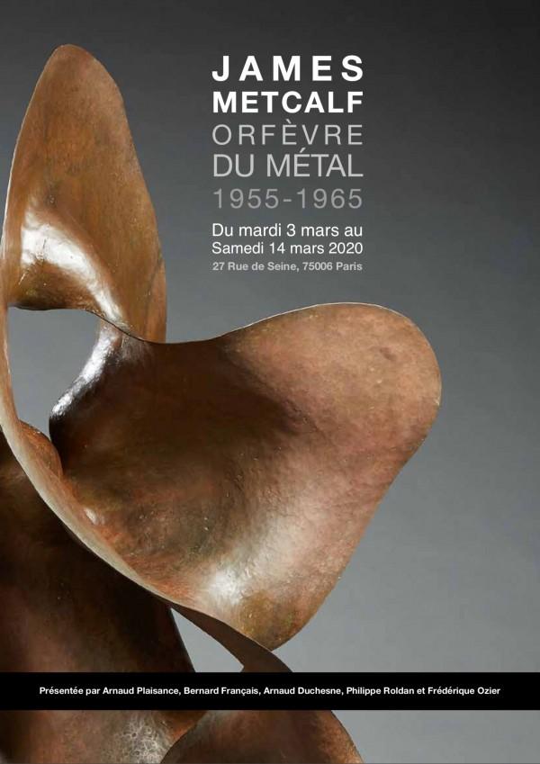 "Exposition ""Orfèvre du métal, 1955-1965"" James METCALF"