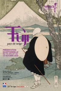 Affiche de l'exposition Fuji, pays de neige au Musée Guimet