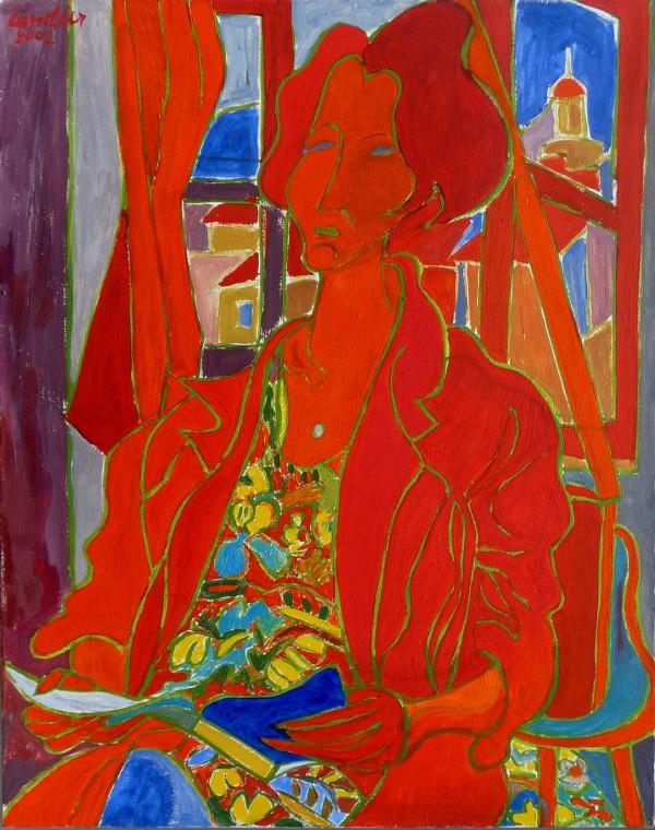La Liseuse en Provence, 2002, huile, 92x73 cm