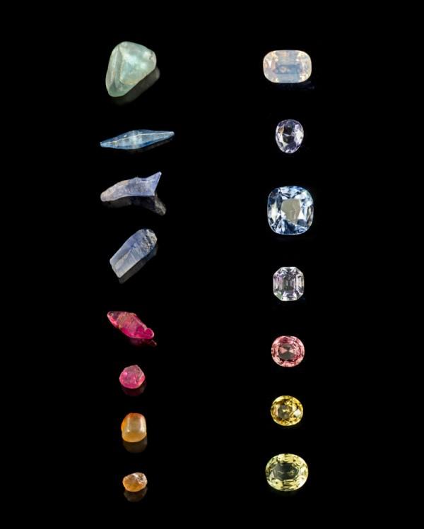 Les corindons de Louis XVIII : saphirs et rubis naturels et taillés (ensemble 75,8 ct) - Sri Lanka. Fin XVIIIe-début XIXe siècle