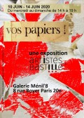 Exposition Vos papiers ! - Flyer recto