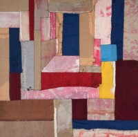House of Leaves, 2020, portfolios on canvas, 127 x 127 cm
