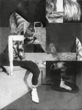 Jérôme Zonder, Pierre-François #10, 2020, Fusain et mine de plomb sur papier, 200 x 150 cm