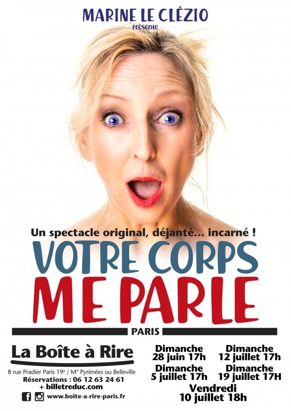 Marine Le Clézio : Votre corps me parle à La Boîte à rire - Paris