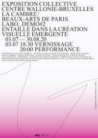 Affiche de l'exposition Labo_Demo #2 au Centre Wallonie-Bruxelles