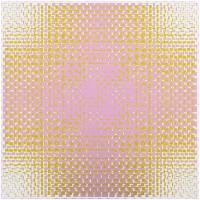 Matti Kujasalo, pink-green, 2018, acrylique sur toile, 55 x 55 cm