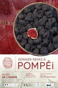 Affiche de l'Exposition Dernier repas à Pompéi
