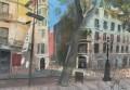 Barcelona, Barri Gòtic, 2018, encre et gouache sur papier, 20 x 29 cm