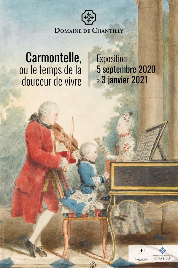 Affiche de l'exposition Carmontelle, ou le temps de la douceur de vivre au Château de Chantilly