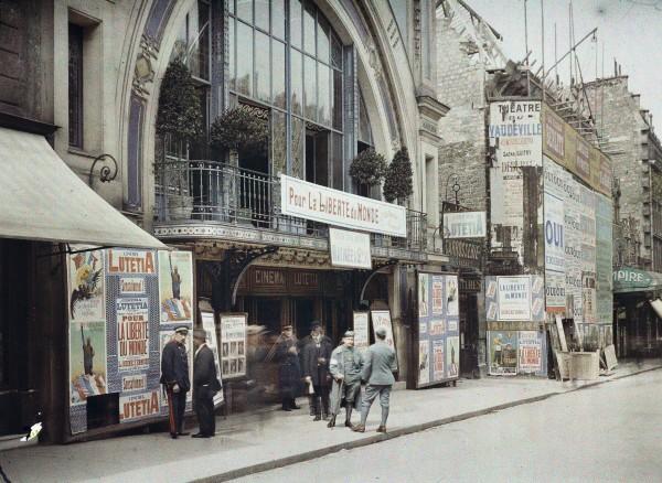Auguste Léon, Paris 17e, cinéma Lutetia-Wagram, 3 mai 1918
