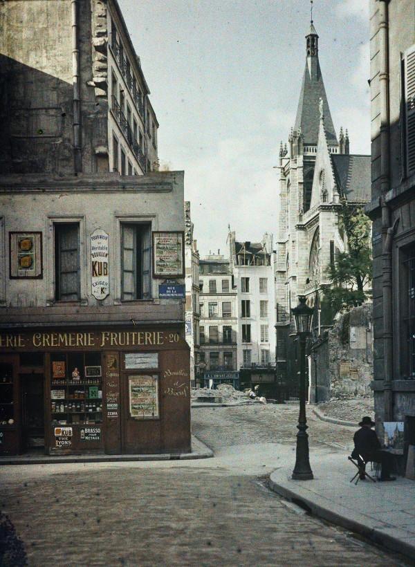 Stéphane Passet, Paris 5e, rue des Prêtres-Saint-Séverin, 9 juillet 1914
