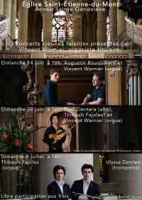 Paul Zientara, Raphaël Willenbrock, Thibault Fajoles et Vincent Warnier en concert