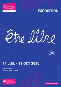 Affiche de l'exposition Ben, Être libre au Domaine de Chamarande