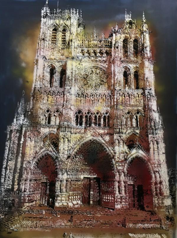 Artiste-Ouvrier, Notre-Dame d'Amiens, 130x97cm, 2018