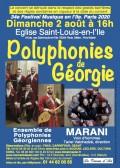 L'Ensemble de polyphonies géorgiennes Marani en concert