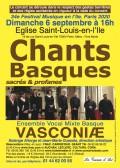 L'Ensemble vocal basque Vasconiae en concert
