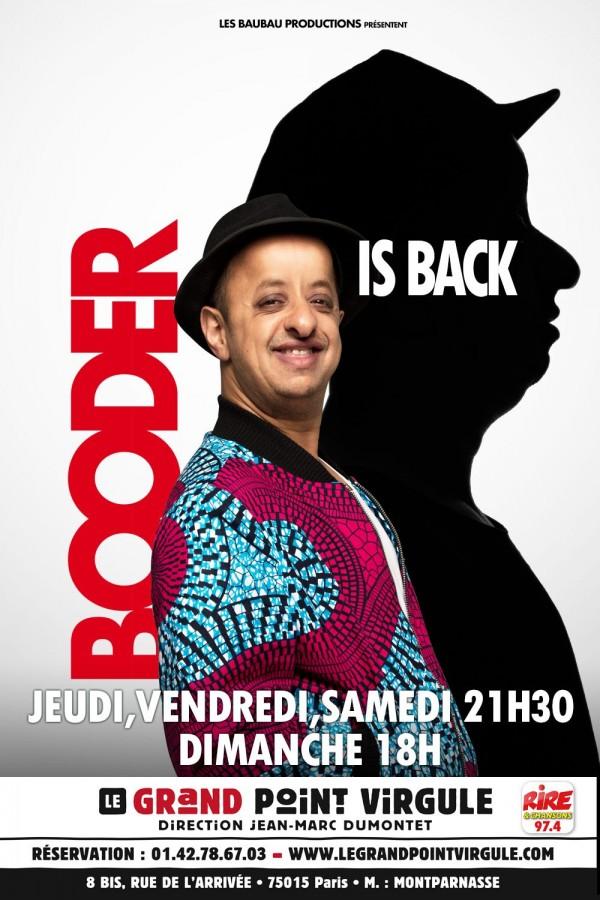 Booder is back au Grand Point Virgule