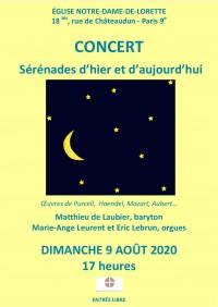 Matthieu de Laubier, Éric Lebrun et Marie-Ange Leurent en concert