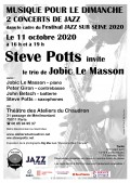 Jobic Le Masson trio et Steve Potts en concert