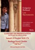 Le Chœur grégorien de la cathédrale d'Aix-en-Provence et Grégoire Rolland en concert