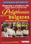 Le Chœur bulgare de Paris Orenda en concert