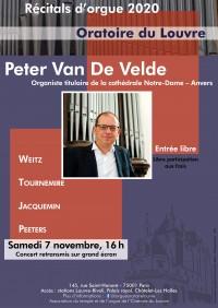 Peter Van de Velde à l'Oratoire du Louvre