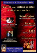 Quatuor Monceau, Édouard-Axel Moubachir et Raphaël Bernardeau en concert