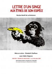 Lettre d'un singe aux êtres de son espèce - Affiche