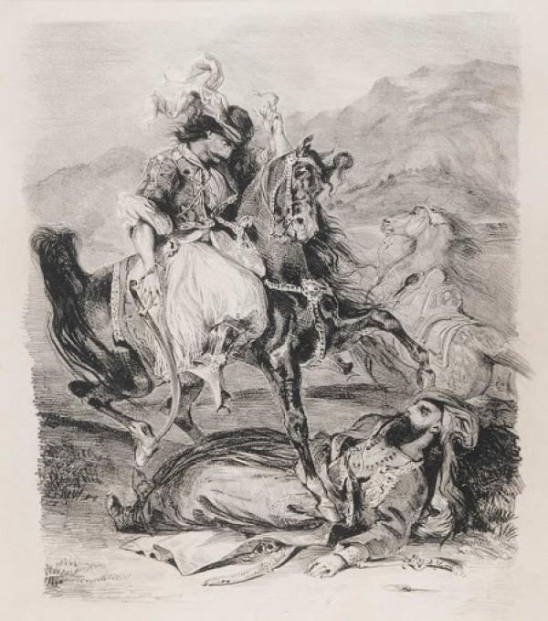 Eugène Delacroix, Le combat du Giaour et du Pacha