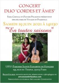 Sara Chenal et Olivier Pelmoine en concert