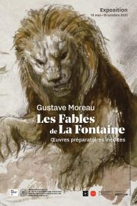 Affiche de l'exposition Gustave Moreau — Les Fables de La Fontaine : œuvres préparatoires