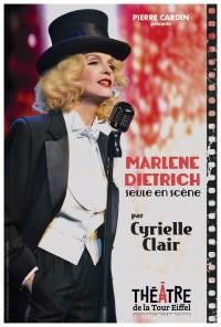 Affiche Marlene Dietrich par Cyrielle Clair - Théâtre de la Tour Eiffel