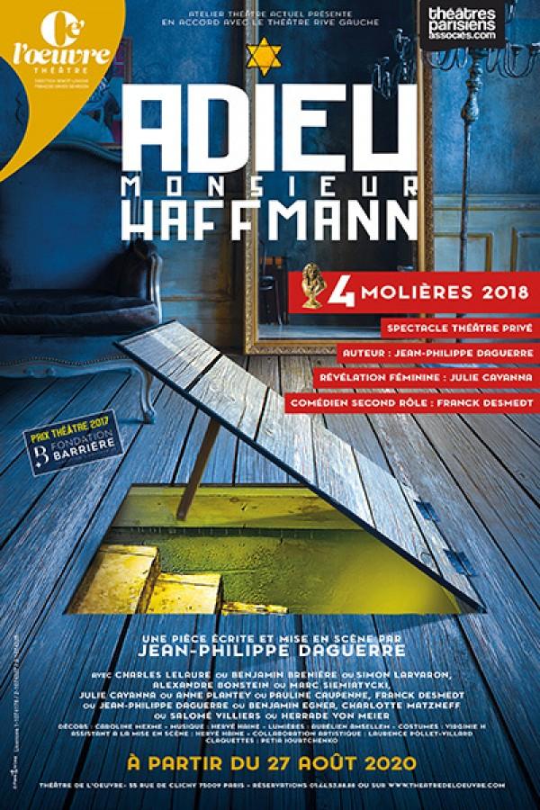 Affiche Adieu Monsieur Haffmann - Théâtre de l'Œuvre