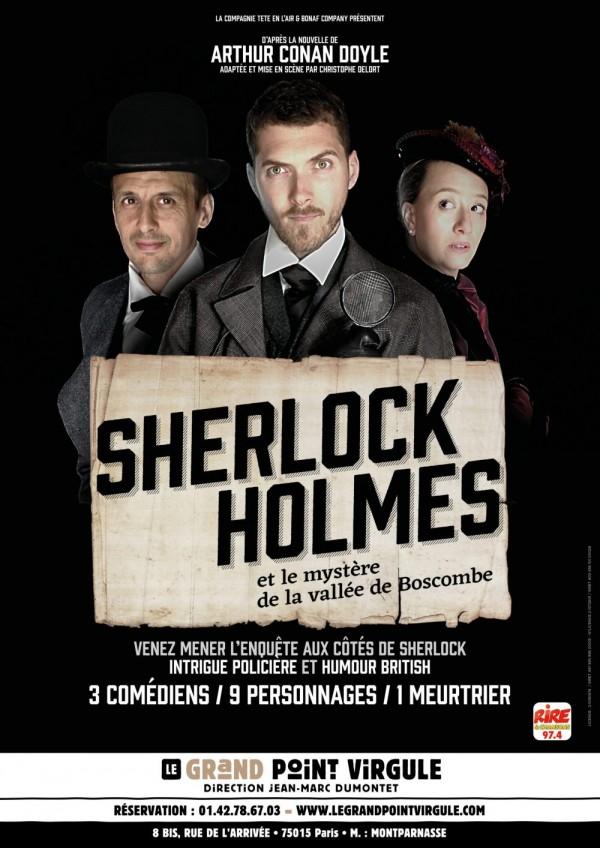 Affiche Sherlock Holmes et le mystère de la vallée de Boscombe - Le Grand Point Virgule