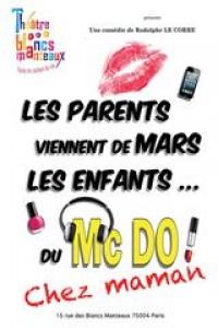 Affiche Les parents viennent de Mars, les enfants de McDo ! Chez maman - Théâtre des Blancs Manteaux