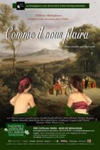 Affiche Comme il vous plaira - Théâtre de verdure du Jardin Shakespeare