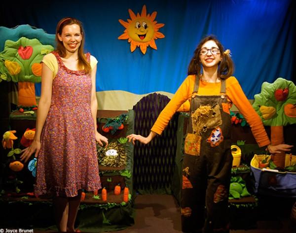 Le jardin de Lilou : deux comédiennes