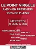 Affiche Le Point Virgule : 65% présentiel, 100% plaisir ! - Le Point Virgule
