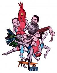 Affiche Un Poyo Rojo - Teatro fisico - Théâtre du Rond-Point