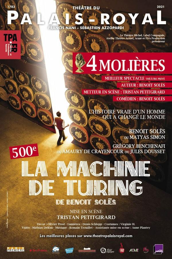Affiche La Machine de Turing - Théâtre du Palais-Royal
