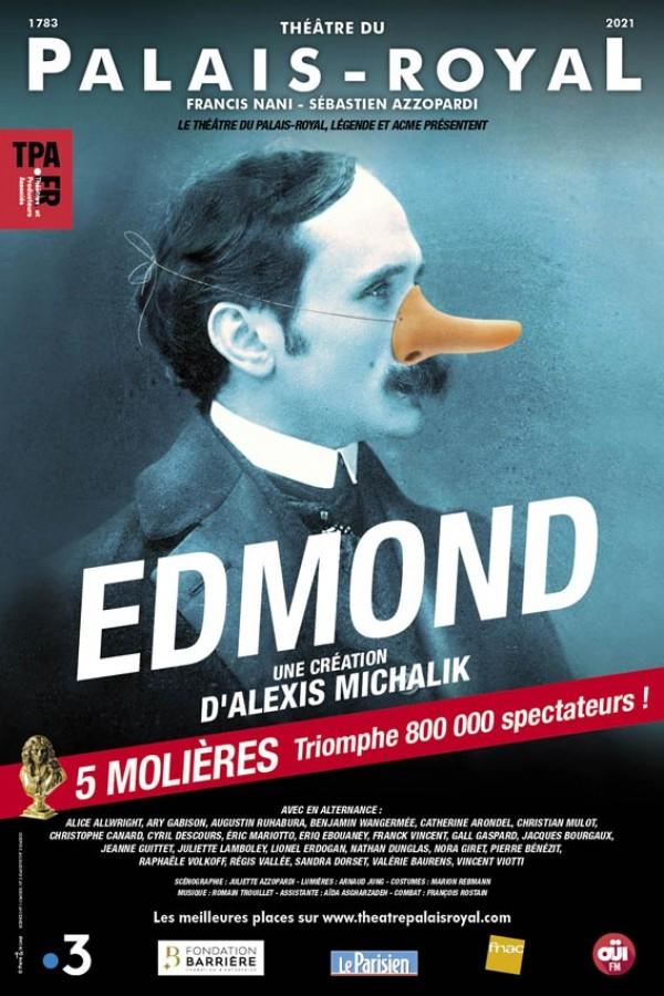 Affiche Edmond - Théâtre du Palais-Royal