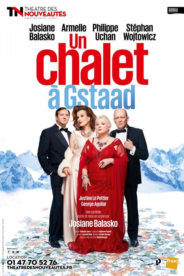 Affiche Un chalet à Gstaad - Théâtre des Nouveautés