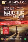 Affiche Marie des Poules, gouvernante chez George Sand - Théâtre Montparnasse