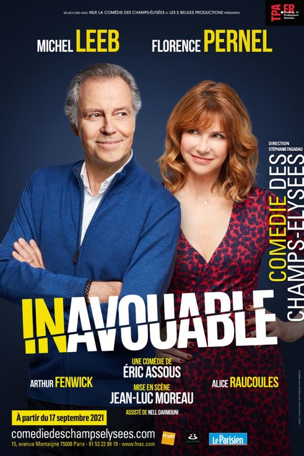 Affiche Inavouable - Comédie des Champs-Élysées