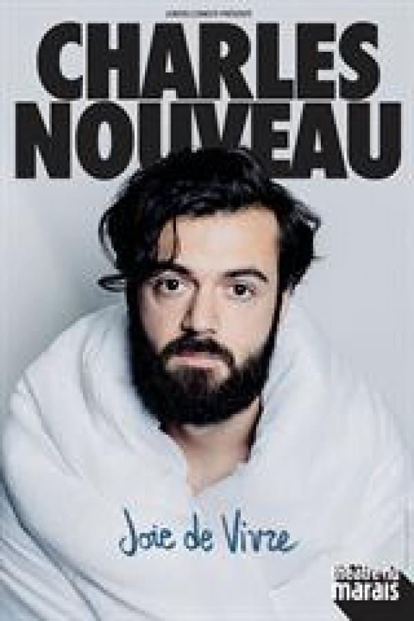 Affiche Charles Nouveau - Joie de vivre - Théâtre du Marais
